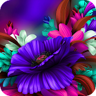 Purple Bloom:Flower launcher for Samsung S6 theme icon