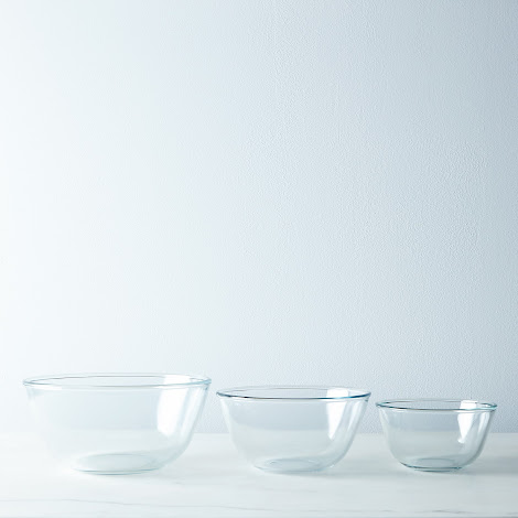 3-Piece Borosilicate Glass Mixing Bowl Set