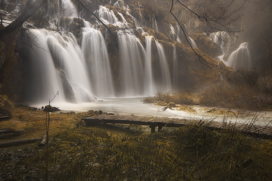 Plitvice lakes by Ivan Prebeg - Landscapes Waterscapes ( water, europe, unesco world heritage site, blurred motion, tourism, lake, forest, travel, scenic, landscape, spring, travel destination, national park, european, nature, season, tree, horizontal, long exposure, plitvice lakes national park, river )