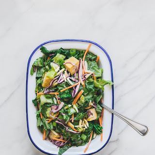 CHINESE TOFU CHOP SALAD W/ SESAME ORANGE MISO DRESSING