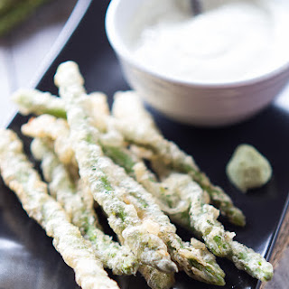 Tempura Asparagus with Wasabi Ranch.