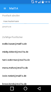 Mail 1A - Wegwerf Mail- screenshot thumbnail