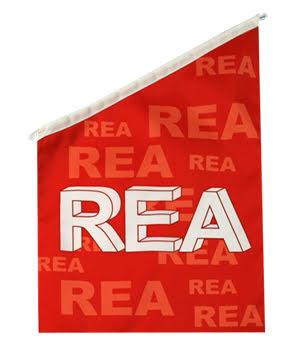 Rea Fasadflagga 60x40 cm Röd