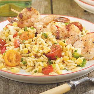 Shrimp with Orzo and Corn Salsa