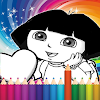 Coloring Game For Dora - Draw