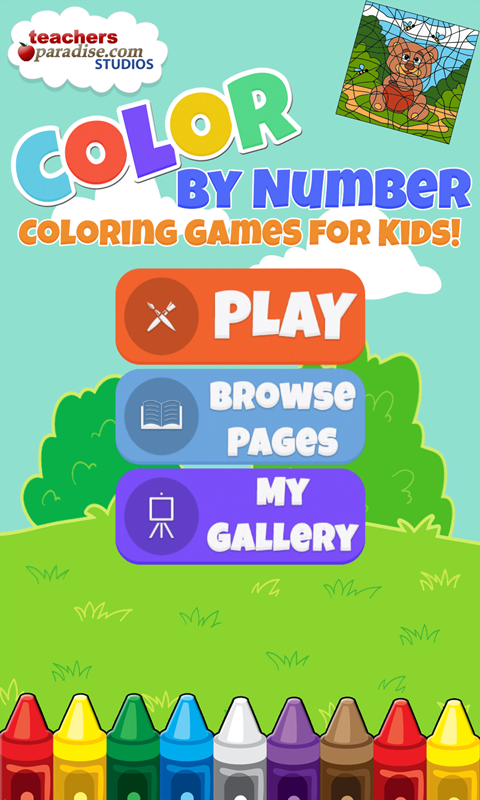 color by number kids art game screenshot