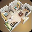 3D house plan designs icon