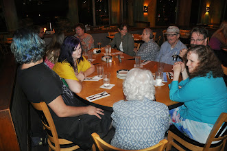 Photo: Another gathering of poets at Coho's.