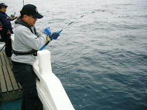 Photo: カワサキさんの泳がせにとうとう! FISH!!