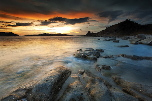 Till the night falls by Carlos David - Landscapes Waterscapes