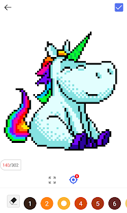 Unicorn Panda - Color By Number