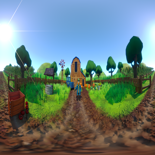 Farmer vs Evil VR game for Android screenshot