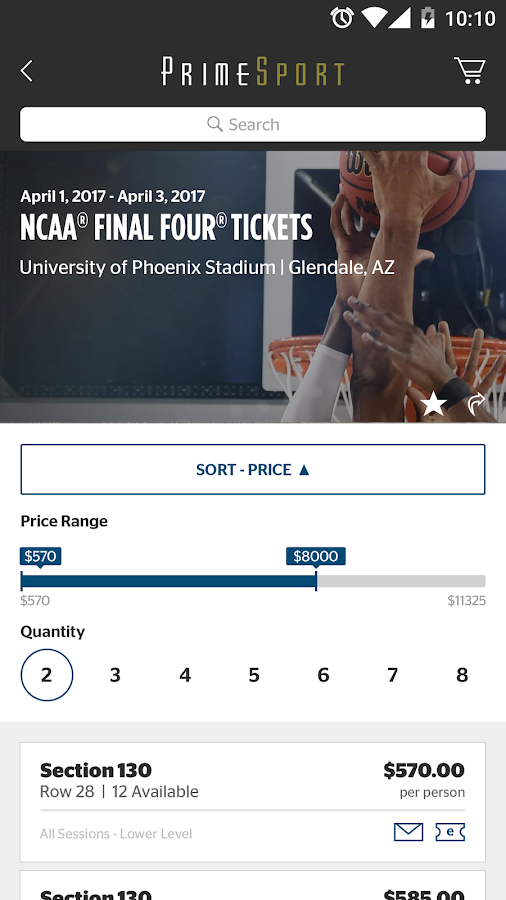 PrimeSport - Sports Tickets- screenshot