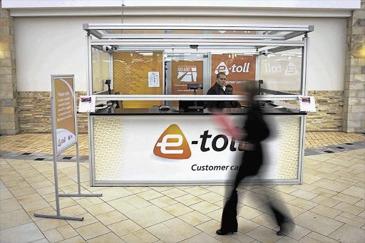 An e-toll outlet at the Brightwater Commons Shopping Centre, in Randburg, northern Johannesburg. File photo.