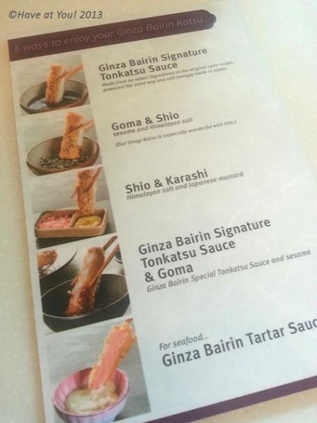 Ginza Bairin directions