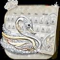 Silver Swan Keyboard Theme icon