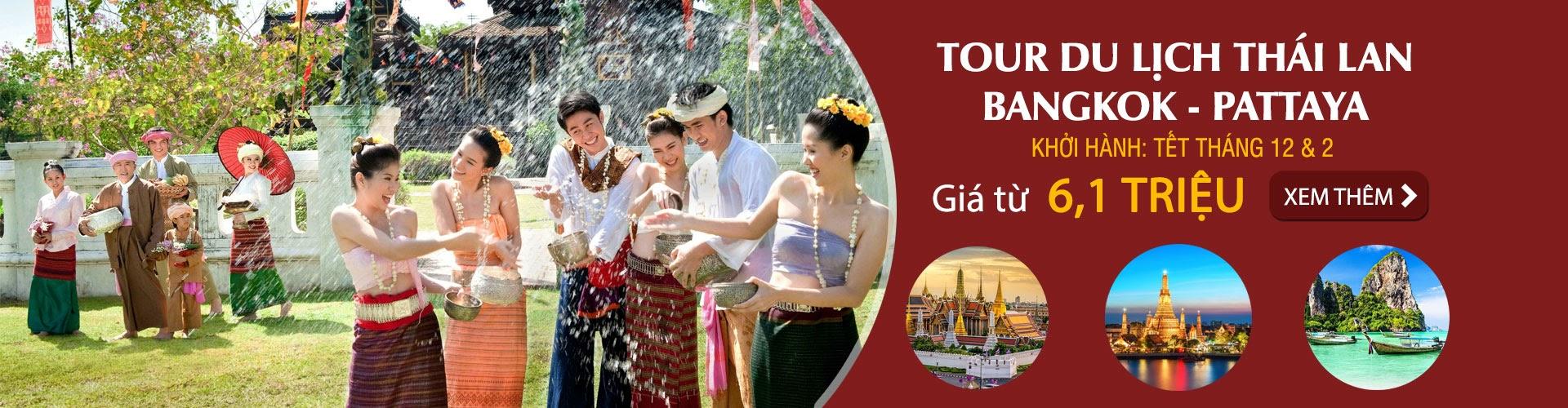 tour du lịch thái lan bangkok pattaya tết 2018