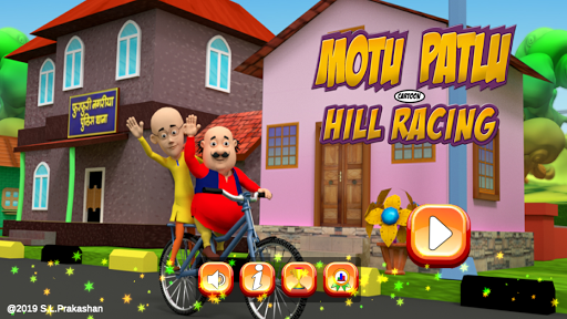 Motu Patlu Cartoon Hills Biking Game 1.0.3 screenshots 1