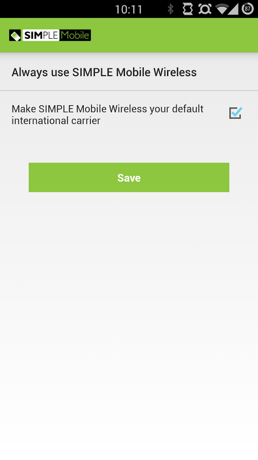 Simple Mobile International- screenshot