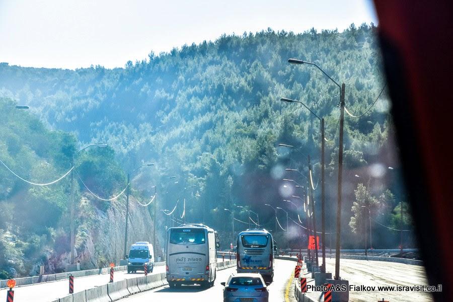 Иудейские горы, шоссе 1, по дороге в Иерусалим. Экскурсия Светланы Фиалковой.