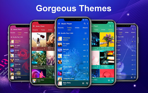 Music Player with equalizer and trendy design screenshots 2