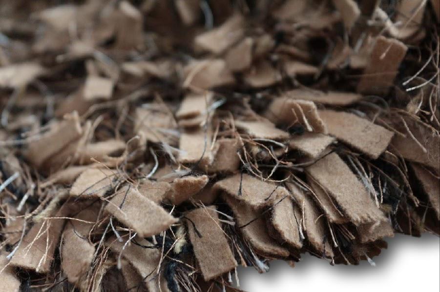 dywan shaggy wełna filcowana poliester z indii
