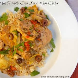 Crock Pot Artichoke Chicken.