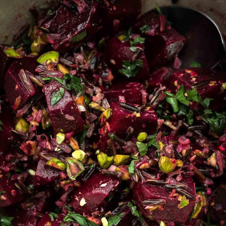 Beet Wild Rice Salad with Pistachios