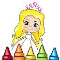 Glitter Princess Coloring Book icon