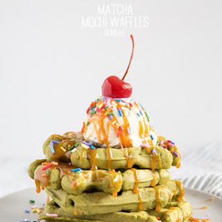 Matcha Mochi Waffles Sundae
