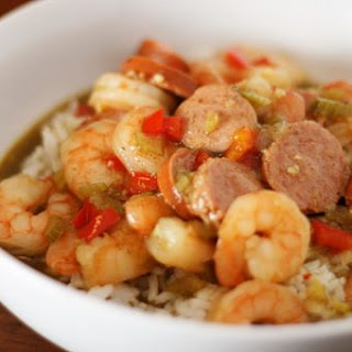 Shrimp & Sausage Gumbo.