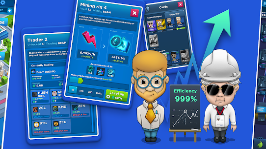 Crypto Idle Miner – Bitcoin Tycoon Mod Apk 1.7.2 (Unlimited Currency) 2