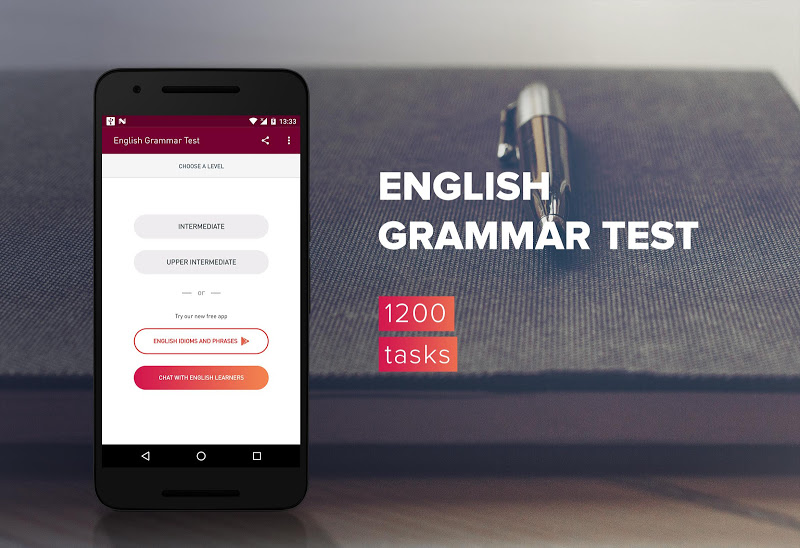 English Grammar Test Screenshot 0