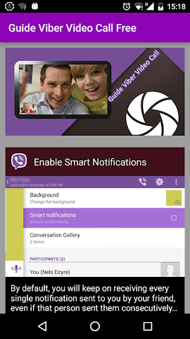 android Secret Viber Video Call Tips Screenshot 0