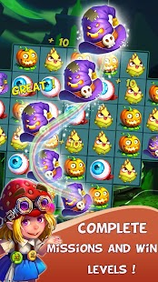 Halloween Witch - Fruit Puzzle- screenshot thumbnail