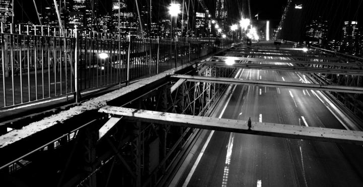 Night View of Brooklyn Bridge di Usho