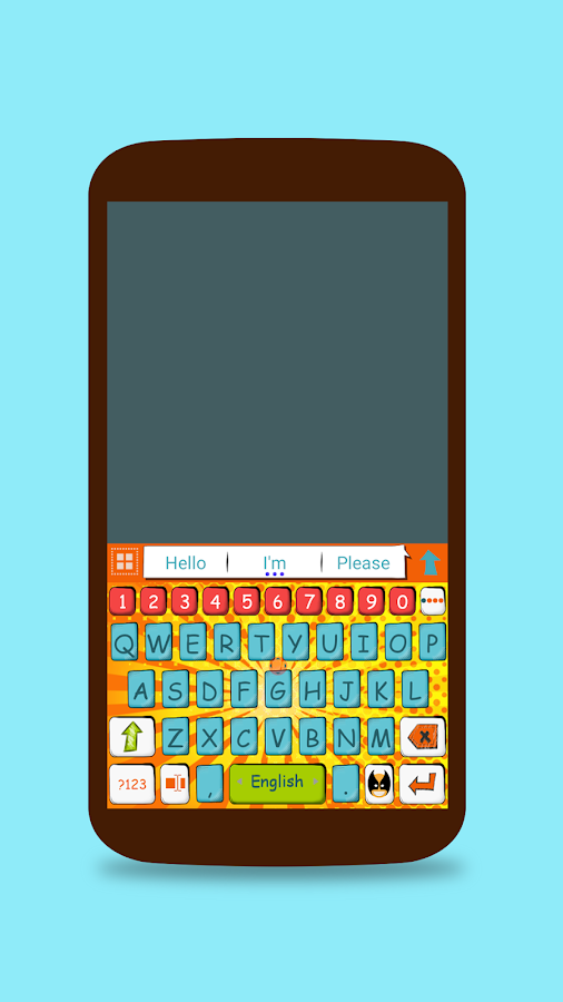 ai.keyboard Comic Book theme- screenshot