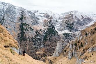 Photo: De la stg. la dr. zona de obârşie a văii Urzicii, apoi valea Caprelor, valea Priponului şi valea Căldărilor