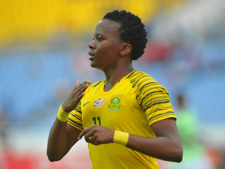 Banyana Banyana striker Thembi Kgatlana won two awards at the CAF.