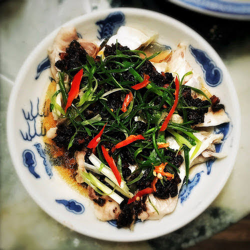 Chen Pi, chinese, chinese dried olive, fermented black bean, miso paste, recipe, steamed fish, Three Bean, 味噌, 欖角, 蒸魚, 豆豉,