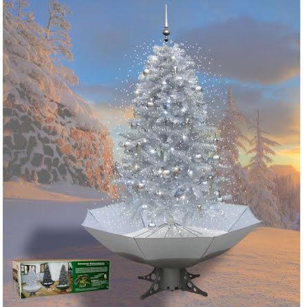 Snöande julgran, silver