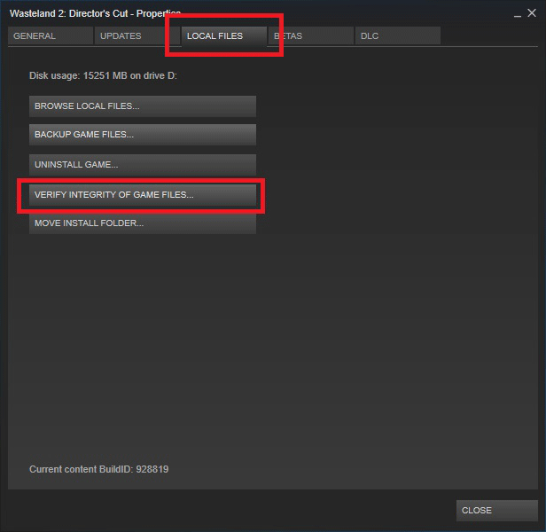 Steam content file locked -verify integrity