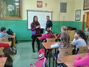 Photo: Studenci z zagranicy prowadzą j. angielski (program Enjoy my origin)