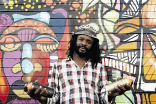 kaleidoscope:        Visual artist Senzo Nhlapo plays with colours to produce exhilarating paintings and artworks          PHOTO: SUPPLIED