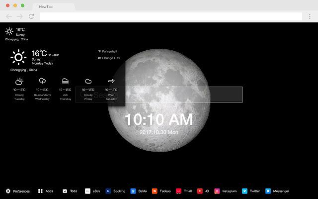 Moon HD Wallpapers New Tab Planet Ball Theme