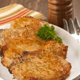 Oven-Fried Parmesan Pork Chops.