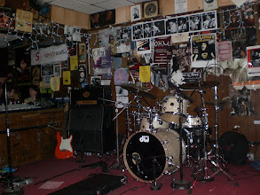 Photo: Stage setup for Scott Henderson's band. The Baked Potato - 1/16/08 (first show)
