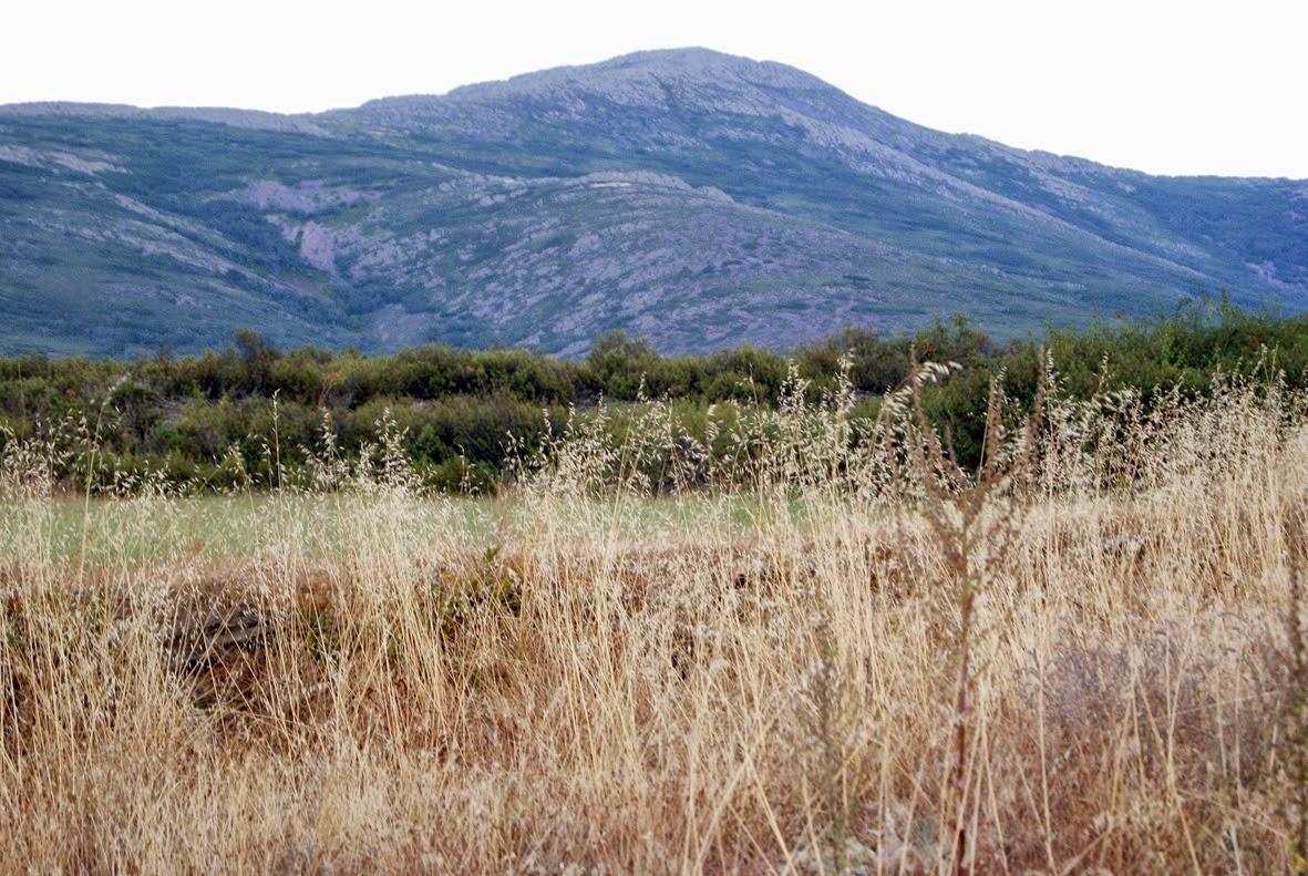 Photo: El Ocejón domina el paisaje de la zona
