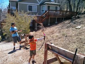 Photo: Justin and Sam at the Range
