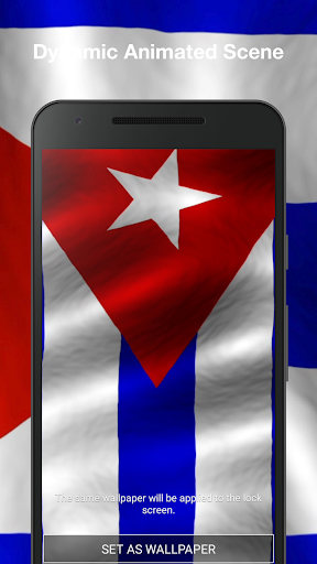 3D Cuba Flag Live Wallpaper PRO Screenshot 2